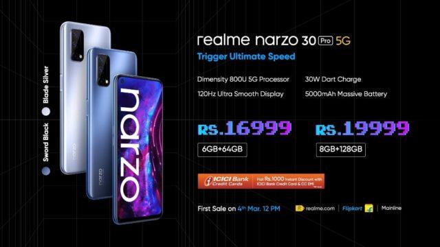 Характеристики Realme Narzo 30 Pro