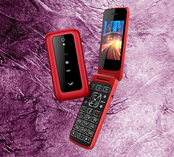 Металл, два экрана, доступная цена: вышел удобный кнопочный телефон-раскладушка
